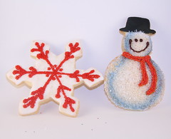 Snowflake and Snowman