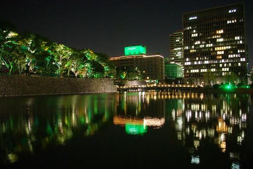 和田倉橋と周辺の環境照明