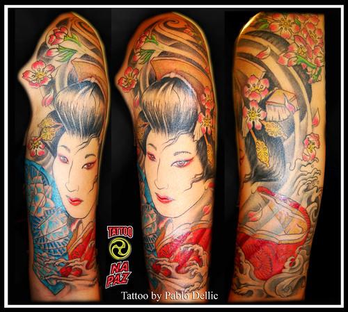 Tatuagem Feminina de Gueixa