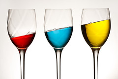 Wine is a Primary Industry (Xenedis) Tags: glass glasses wineglass wineglasses red blue yellow primarycolours colours stilllife newsouthwales nsw australia fh