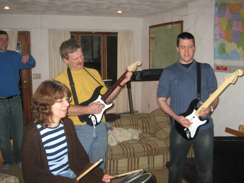 Kyle's family plays Rock Band