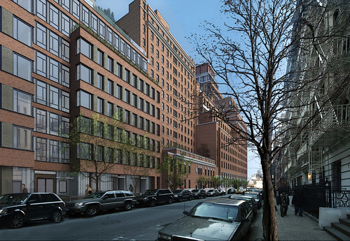 The complex of condos on 13th Street includes a mix of new and old buildings. (Courtesy FXFowle)