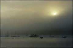 Brume matinale. (glemoigne) Tags: morning mist misty fog sunrise brittany foggy bretagne breizh brest brouillard brume bzh finistère bretaña estuaire logonna iroise penarbed bretanya bretañafrancesa radedebrest logonnadaoulas moulinmer glemoigne gilbertlemoigne