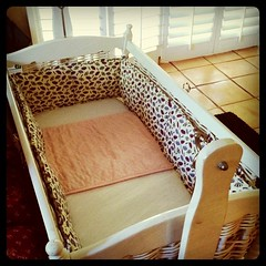 Bassinet built and ready for baby.