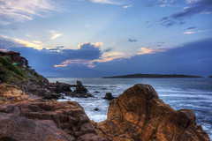 7 Years Later... (Didenze) Tags: travel light sunset sky cliff clouds island seaside rocks europe cove bulgaria blacksea sozopol stivan hdrspotting didenze