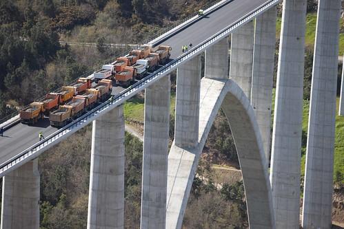 Pruebas de carga en puentes - Viaducto sobre río Ulla