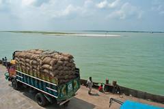(Peculiar Sajib) Tags: sky people water ferry truck river island child human maoa maowa
