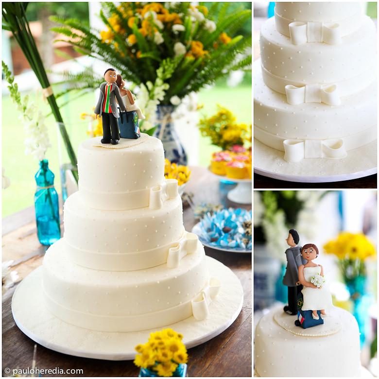 """decoracao de casamento na igreja azul e amarelo: Herédia – Fotógrafo de casamento: Um casamento """"feito em casa"""
