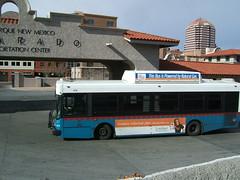 Albuquerque bus (LHOON) Tags: railroad usa newmexico bus station train albuquerque railway amtrak nm southwestchief
