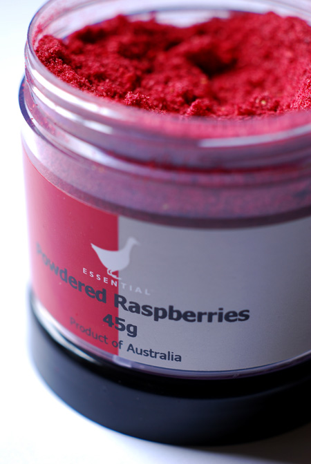powdered raspberry