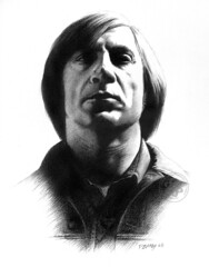 Javier Bardem (pbradyart) Tags: portrait bw pencil movie star sketch oscar artwork drawing javierbardem helluva artisticexpression 10faves 35faves 25faves mywinners