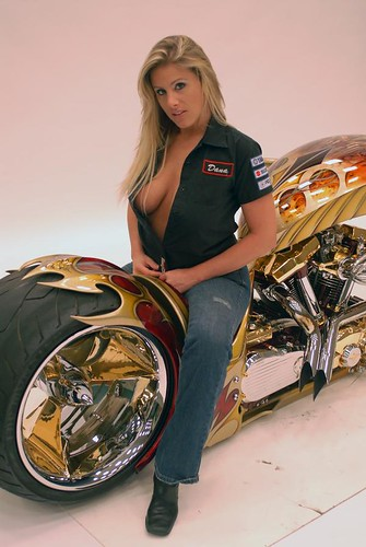 biker, babes, motor, show, girls, blonde