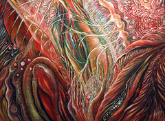 Saline Dreams (painting) and To Walk by the Evening Sea (poem) (faith goble) Tags: ocean color art painting artist acrylic poem photographer bluegrass body kentucky ky faith vivid canvas creativecommons poet writer seacreatures tacomaartmuseum bowlinggreenky goble firsthand bowllinggreen originalpoem faithgoble poemandpainting grafixer ccbyfaithgoble gographix originalpainitingbyfaithgoble faithgobleart thisisky