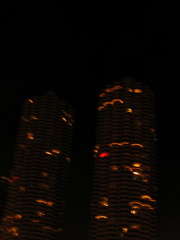 Earth Hour in Marina City (Chicago) 2008