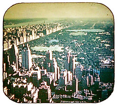 Central Park from Rockefeller Center  ca. 1948 (Jim Lambert) Tags: nyc newyorkcity usa ny newyork 1948 architecture buildings us newjersey skyscrapers unitedstates centralpark manhattan nj rockefellercenter 1940s hudsonriver centralparksouth cps topoftherock 1947 observatories 40s cpw centralparkwest gebuilding rcabuilding w59thst thetopoftherock west59thstreet hudsonr w59thstreet
