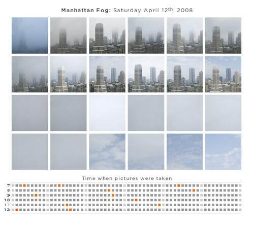 Manhattan fog this morning