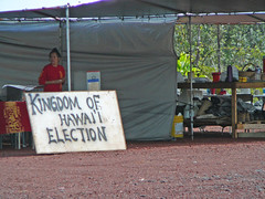 Kingdom of Hawaii Election - Sign Closeup