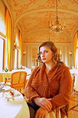 La Rserve de Beaulieu, Beaulieu-sur-Mer (peesen) Tags: ocean sea portrait food woman mer france girl lady cotedazur riviera artnouveau carla cote baroque opulent finedining frenchriviera ctedazur savoirvivre guidemichelin francectedazur