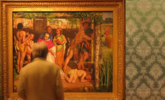 Looking at Holman Hunt (Martin Beek) Tags: detail art museum artist victorian culture oxford artworks preraphaelite universityofoxford colection ashmolean ashmoleanmuseum personalcollection williamholmanhunt victorianart artgalleriesandmuseums preraphaelitism artgalleryandmuseums avirtualmuseum preraphaelitepainter personalchoicecollection galleriesandmuseums artistictreasures avirtualartgallery 18271910 wiliamholmanhunt preraphaelitepainters