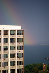 around the corner (JosephRPalmer Photography) Tags: windows chicago building rainbow lakemichigan stormyweather chicagoist best08 22june08