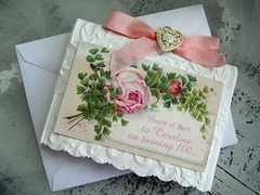 white and pink birthday card