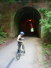 biking on the Capital Crescent trail