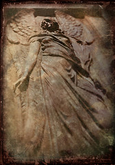 the star (B.S. Wise) Tags: california ca mountain art texture broken cemetery grave statue sepia angel hope photo wings view crack photograph layer marble piedmont gravesite bradwise bradswise mortuary flickrtategallery multimegashot stealingshadows bswise themysticofthetextures