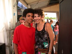 My baby boy and his mom, Jazz Fest 2003