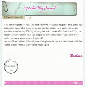 New Blog Format
