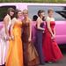 Amelia Foster, Lauren Tennant, Lauren Nixon, Roisin Watson and Jade Ogle before Cardinal Newman Prom