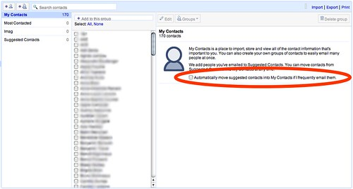 Gestion des contacts Gmail
