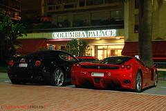 Alfa Romo 8C with Ferrari Enzo (Julien Rubicondo Photography - julienrubicondo.com) Tags: white night nikon automobile ferrari montecarlo monaco enzo alfa romeo 23 d200 franck alfaromeo luxury scuderia supercar muller supercars 430 monza f40 programm 8c alfaromo 599 fxx transaxle rmr