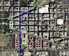 walking directions from my office to EPA (image by Google Maps)