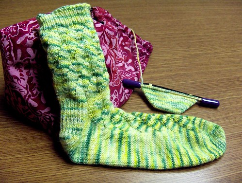 1st sock done, 2nd started