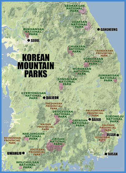 KOREA IN THE CLOUDS: A Guide to Hiking Korea's Mountains ... on japan map, costa rica map, great britain map, russia map, united arab emirates map, portugal map, spain map, thailand map, brazil map, italy map, hong kong map, taiwan map, austria map, burkina faso map, iran map, germany map, bangladesh map, korean peninsula map, saudi arabia map,