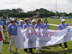 Survivors Lap (Andy Coote) Tags: penryn relayforlife cancerresearchuk july2008 businessleague
