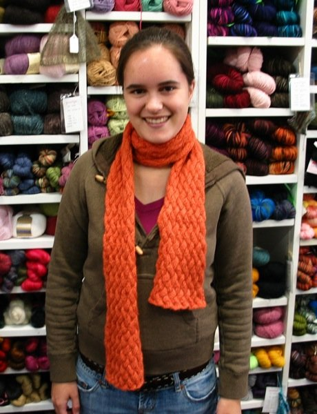 Amanda's Orange Alpaca Scarf