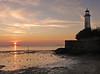 Halebank sunset (Mr Grimesdale) Tags: sunset lighthouse reflection mr sony tranquil hale mersey merseyside rivermersey mrgrimsdale halebank stevewallace dsch2 europeancapitalofculture2008 grimesdale