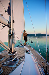 Looking at the Sunset (h.andras_xms) Tags: sunset man water boat hungary sailing sail 1ds macho balaton markiii vibrancy csaj csajok handras szexi