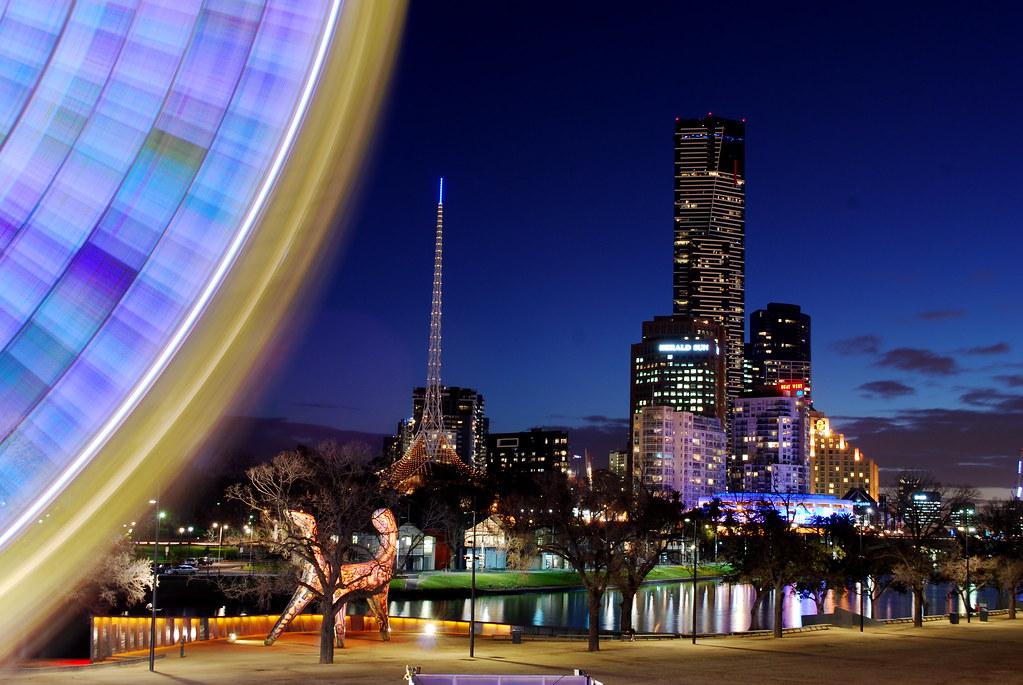 Wheel and Skyline, Melbourne