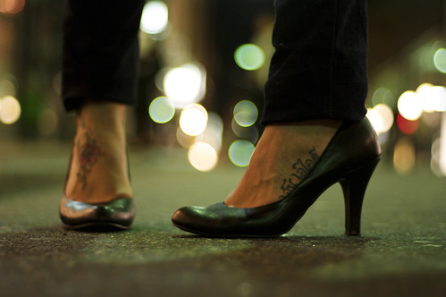 Rose tattoo for Black Heels