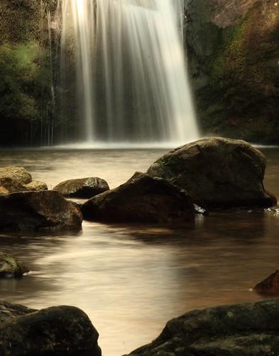 The base of Looking Glass Falls, near Asheville, North Carolina by Alaskan Dude.