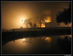 Foggy Night (travel-paresh) Tags: winter fog night lowlight varanasi paresh banaras benaras bhu scarynight banarashinduuniversity canonpowershots3is swatantrabhavan