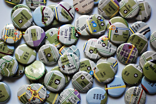 recycled map buttons