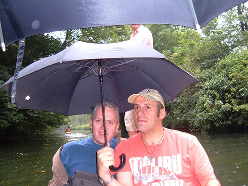 Punting in the Rain, Steve and Adam