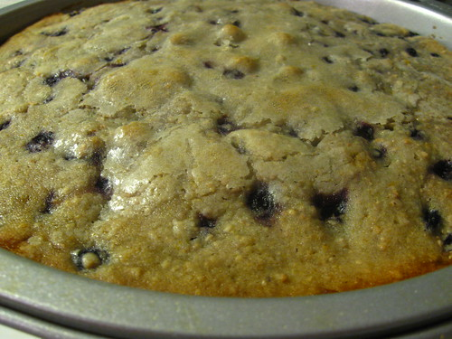 Close Up of Blueberry Cake