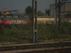 Dorps (Tatty Seaside Town) Tags: train graffiti graf royalmail scraps freight wembley dorps tattyseasidetown
