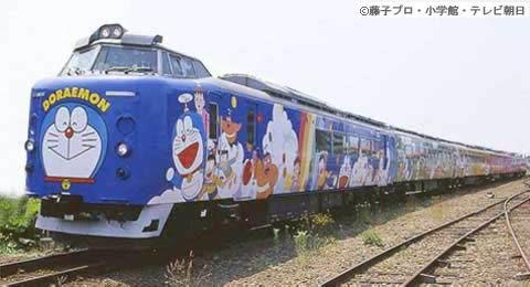 Doraemon train services Hokkaido