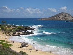 Beaches at North-Eastern Oahu Shore, Makapu'u Beach Park, Hawaii (Pet_r) Tags: ocean park usa beach hawaii coast surf waves oahu palmtree petr 2008 makapuu beachpark blueribbonwinner kalanianaole kaohikaipu mywinners abigfave kaohikaipuisland theperfectphotographer goldstaraward top20travelpix