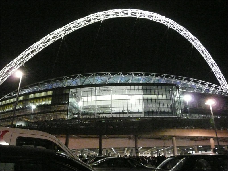 The Wembley Arch By Night